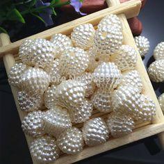 14 mm ABS marfim cor imitação de pérolas Beads Fit europa Beads fazer jóias