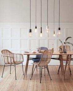 77 Gorgeous Examples of Scandinavian Interior Design Scandinavian-dining-room-with-minimalist-light-feature