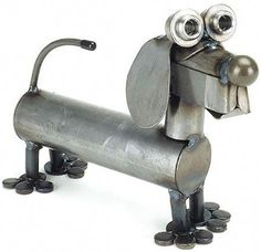 Metal Sculpture Artists, Dog Sculpture, Steel Sculpture, Art Sculptures, Sculpture Ideas, Abstract Sculpture, Bronze Sculpture, Metal Tree Wall Art, Scrap Metal Art