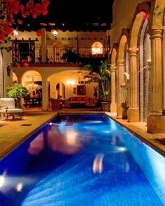 Hacienda San Angel - Puerto Vallarta, Mexico #Jetsetter Boutiques, Porches, I Need Vacation, Honeymoon Hotels, Honeymoon Destinations, Dream Pools, Indoor Swimming Pools, Backyard Retreat, Puerto Vallarta