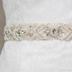 Diamond Sash Fashion Lacing Back Beaded Crystals And Sequins Wedding Sash Bridal Belt Diamond Bridal Sash Pearl Bridal SashS18 Online with $62.82/Piece on Yupan's Store | DHgate.com