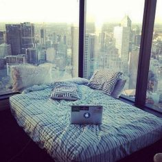 Bedroom with city view, this would be splendid