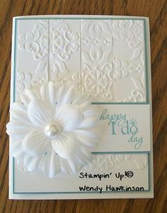 A few weeks ago, I made my niece a wedding card and I had several requests for directions and measurements.   Parts & Pieces: Stamp Set: Wor...