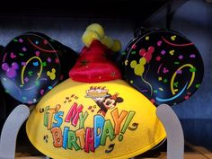 Officially a teen  First timer    Embroidery adds a whimsical touch to your new Mickey Ears Hat.  There are a multitude of embroidery fontsand colorsto choose from. Based on your budget, you can choose to have one or two lines embroidered to the back of your Mickey Ears. Whether you are celebrating a wedding, a birthday, or a first visit …