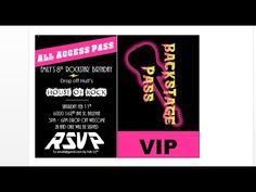 How to make concert backstage pass party invitations with MS Word.  Learn how to make these custom concert party invitations, totally free using MS Word and a browser.