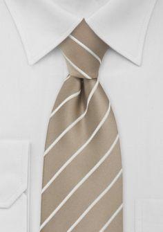 Krawatte Streifen beige