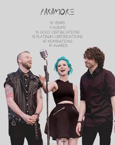 im-a-paramonster: Paramore + numbers DON'T FORGET TO ADD ANOTHER GRAMMY