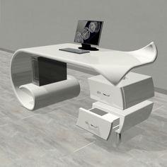 Non solo design Office Table Design, Office Interior Design, Office Interiors, Office Decor, Futuristic Furniture, Corian, Solid Surface, Tv Unit, Office Furniture