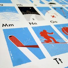 The Skier's Alphabet screen printed poster:https://myoutdooralphabet.com/collections/prints/products/the-skiers-alphabet
