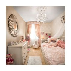 Little Girl Bedroom Home Design Ideas, Pictures, Remodel and Decor ❤ liked on Polyvore featuring home and home decor