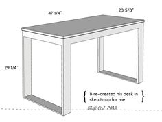 How to build a white modern desk with miter saw and kreg jig 1 Diy Wood Desk, Wooden Pallet Furniture, Diy Desk, Modern White Desk, White Desks, Diy Furniture Building, Cheap Furniture, Outdoor Furniture, Home Office