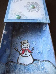 Sanne Kreativ: Meine Welt in der Streichholzschachtel: Schneegestöber