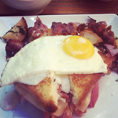 Croque Madame at Red in Bucktown, Chicago