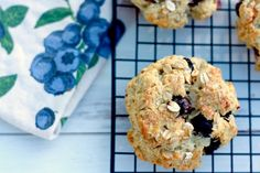 Blueberry Oatmeal Scones - I used avocado oil in place of melted butter. Delicious.
