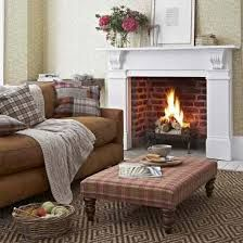 Northumberland country tweed rustic chic living room