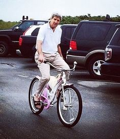 There's a Wacky Rumor About John Kerry's Bike Accident Movie Memes, Funny Memes, Bike Meme, Pink Bike, They See Me Rollin, Go Ride, National Review, Weekend Is Over, Current Events