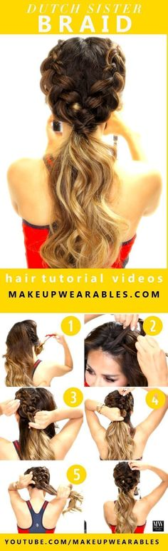 10 Easy And Cute Hair Tutorials For Any Occassion. These hairstyles are great for any occasion whether you just want quick and casual or simple yet elegant. Great for women with medium to long hair. Want no heat waves, a messy sock bun, or stylish braids? Look no further. #HairCareforWomen