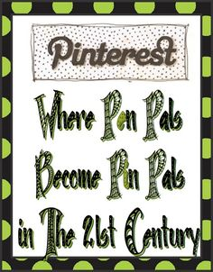 Pinterest is where Pen Pals Become Pin Pals in the 21st Century.    #Pinterest #pin #humor #quotes #lol