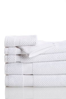 Oviedo Jacquard 6-Piece Towel Set - White