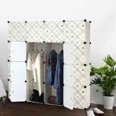 Epic FR US UK Lager iKayaa Mode multi use Kleiderschrank Kleiderschrank Schrank DIY Tuch Schuhe Speicherorganisator