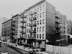 with a Large Tenement Apartment Building in NYC, 1964 : Harlem Apartment, Vintage Apartment, Bronx Nyc, New York Apartments, Vintage New York, Beach Landscape, Ways Of Seeing, New York City, The Neighbourhood