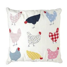 Applique chicken cushion from Bhs | Decorative cushions - 25 Beautiful Homes' top 5