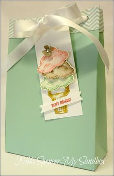 Nikki Spencer-My Sandbox: Mint Macaron Gift Bag!