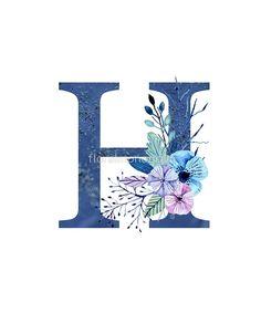 Monogram H Icy Winter Bouquet by floralmonogram h harfi 'Monogram H Icy Winter Bouquet' by floralmonogram Printable Alphabet Letters, Alphabet Art, Alphabet And Numbers, Letter Art, Monogram Alphabet, Monogram Wallpaper, Alphabet Wallpaper, Winter Bouquet, Winter Flowers