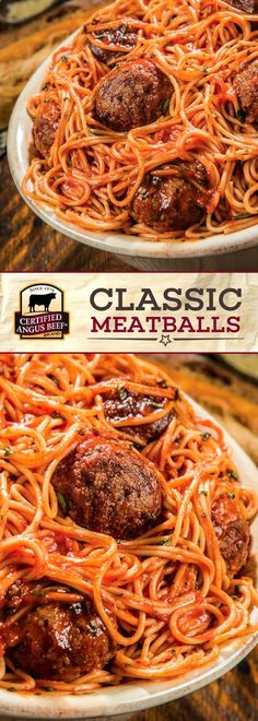 Certified Angus Beef®️️️️️️️️️ brand Classic Meatballs are made with the best ground chuck and Italian sausage for HEARTY flavors! Oregano, fresh parsley, and parmesan bring this recipe together. It's SO easy to make these impressive classic meatballs! Perfect for a family meal or a party. #bestangusbeef #certifiedangusbeef #beefrecipe #easyrecipes #meatballrecipes