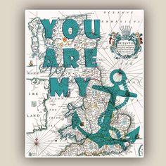 You are my anchor Print Nautical father's Day Gift 8x10 by AlgaNet