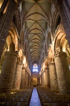 The interior of St Magnus Cathedral in Kirkwall, Orkney.