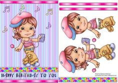 Musical Lolly on Craftsuprint designed by Barbara Alderson - step by step decoupage on a card front - Now available for download!