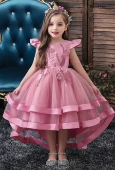 Toddler Flower Girl Dresses, Baby Girl Dress Patterns, Wedding Flower Girl Dresses, Lace Party Dresses, Little Girl Dresses, Baby Dress, Girls Dresses, Girls Fashion Clothes, Girl Outfits
