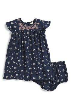 Tucker + Tate Floral Print Flutter Sleeve Dress & Bloomers (Baby Girls) available at #Nordstrom