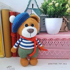 Teddy Bear Knitting Pattern, Doll Amigurumi Free Pattern, Crochet Teddy Bear Pattern, Doll Patterns Free, Crochet Animal Amigurumi, Crochet Dolls Free Patterns, Crochet Bear, Crochet Crafts, Crochet Toys