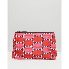 Lulu Guinness Stripe Lip Make-Up Bag (4.735 RUB) ❤ liked on Polyvore featuring beauty products, beauty accessories, bags & cases, multi, makeup purse, lulu guinness, toiletry kits, travel bag and toiletry bag