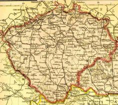Bohemia- Where my great grandfather's parents were born. Bohemia was its own country then but was taken over by Chek Rep.