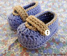 Scarpine bebè all'uncinetto - Crochet baby shoes