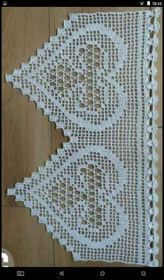 How to Crochet Wave Fan Edging Border Stitch Filet Crochet, Crochet Lace Edging, Crochet Borders, Crochet Stitches Patterns, Cotton Crochet, Crochet Doilies, Hand Crochet, Sewing Projects For Kids, Crochet Projects