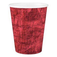 #trendy - #Dark Pink Textured Paper Cup