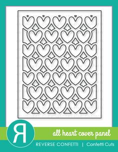 The All Heart Cover Panel Confetti Cuts die is a beautiful background to add to your cards, scrapbook pages and other crafty creations! Designed to fit perfectly on an A2 card front, this beautiful die will give your cards that perfect wow factor that we all desire to give our projects.