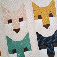 Gorgeous fox quilt being quilted up for a client. #longarmquilting #sometimescrafterlongarmquilting