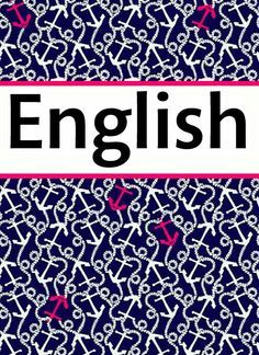English binder cover | Binder Covers | Pinterest | Binder and ...