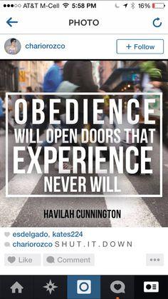 Havilah Cunnington Obedience: The Doorway to Promotion