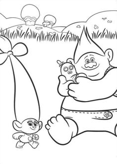 Trolls Online Coloring Pages Printable Book For Kids Find This Pin And More On