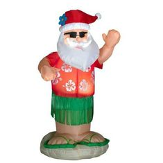 Home Accents Holiday 6 ft. Pre-Lit LED Animated Inflatable Santa Dances The Hula Airblown Christmas Decorations Clearance, Decorating With Christmas Lights, Outdoor Christmas Decorations, Holiday Lights, Christmas Themes, Yard Decorations, Holiday Decorating, Light Decorations, Holiday Ideas