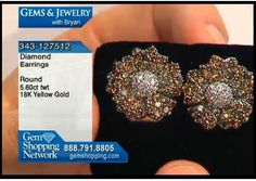 Natural colored diamond earrings with over 5 carats of diamonds in a flower shaped mount with the diamond graduating from a chocolate color to light colored centers.