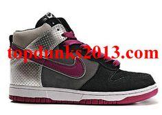 Original Athletics East Black Purple High Top Nike Dunk