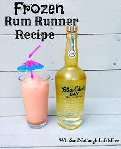 Frozen Rum Runner Cocktail Made With Blue Chair Bay Banana Rum. #bananarum # Rum