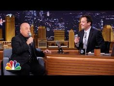 Jimmy Fallon and Billy Joel create a 2 man doo-wop grup and sing The Lion Sleeps Tonight song....
